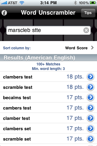 word descrambler multiple